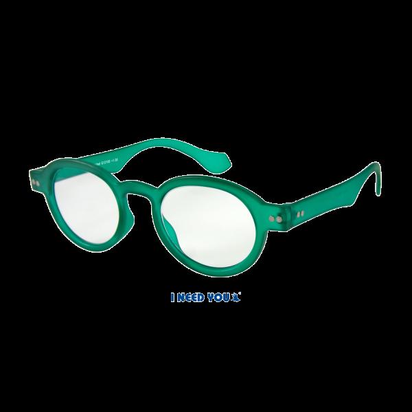 Leesbril DOKTOR G121000 groen kunstof, inclusief bijpassend soft etui