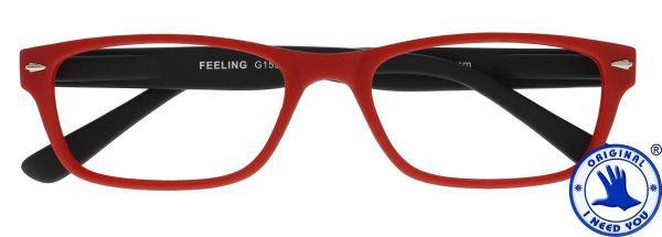 Leesbril FEELING Rood - Zwart