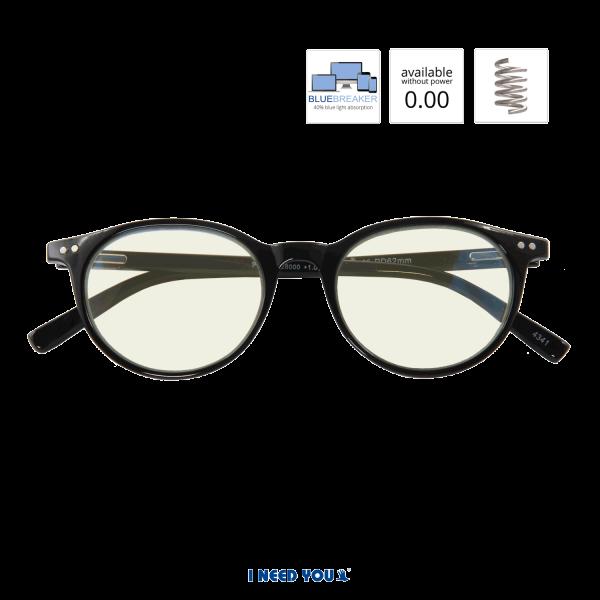 BLUEBREAKER Panto, G28000, zwart, UV400 Beeldschermleesbril