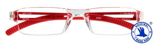 Leesbril JOY G61700 kristal-rood
