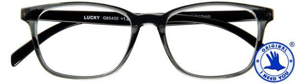 Leesbril LUCKY - Grijs-zwart